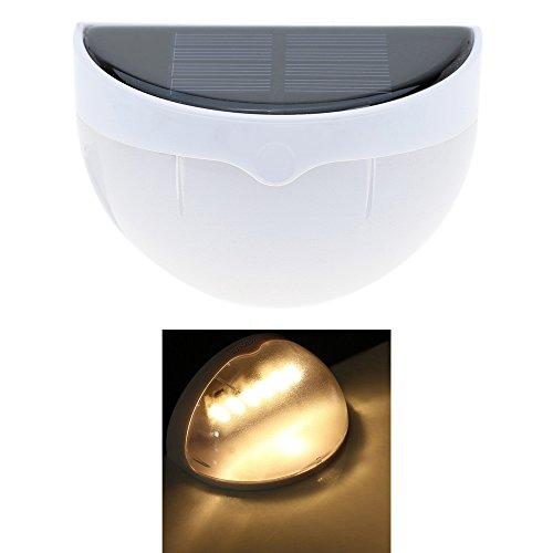Lixada Led-lamp op zonne-energie, draadloos, wand-gemonteerd, lichtsensor voor tuin, goot, hek, wand, dak, binnenplaats, binnenplaats, buitengebruik