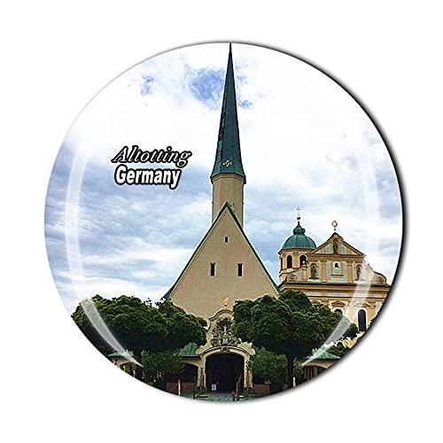 Altotting Germany 3D-Kühlschrankmagnet, Kristall-Stil, Souvenir, Kühlschrankmagnet, Heimküche, Dekoration, Geschenkkollektion
