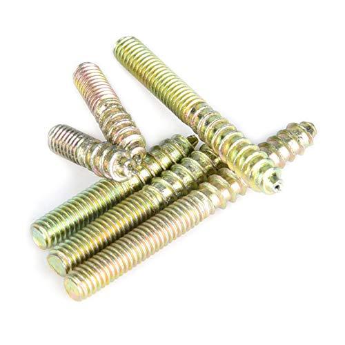 Pernos de conexión, kit de tornillos de pasador de hierro y zinc, para carpintería, hogar, reparación de muebles, taller de reparación