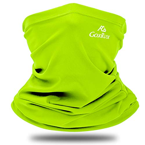Summer Neck Gaiter Sun UV Protection Face Cover Cooling Neck Scarf Anti Dust Windproof Bandana for Hiking Cycling Fishing (Bright Green)