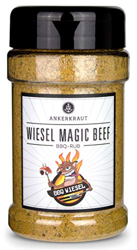 Ankerkraut Wiesel Magic Beef, BBQ Rub Gewürzmischung für Brisket, Ribs, Roastbeef und Pulled Beef, 200g im Steuer