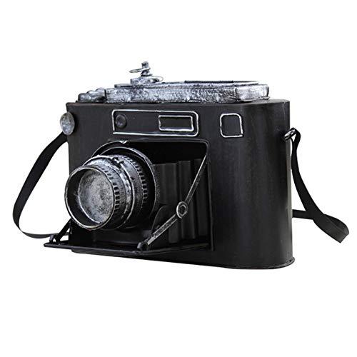 LUCKFY Cámara de película metálica Mirada de la Vendimia de antigüedades de colección fotográfica de Accesorios de Fotos Decoración de Mesa Decoración