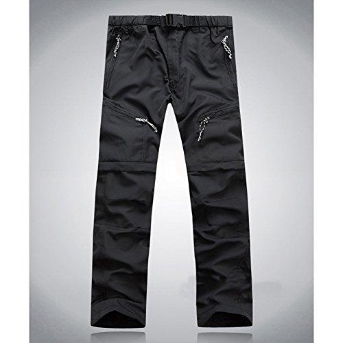 ACHICOO Lanlan Pantalones de senderismo desmontables Quick Dry Convertible Pant para exterior, camping, trekking, hombre, mujer, L, verde militar