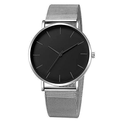 Hansee Herren-Armbanduhr, Legierung, elegant, klassisch, minimalistisch, Geschenk Gr. Einheitsgröße, L