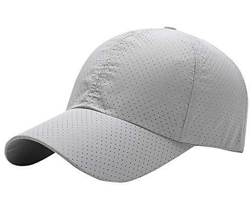 AIEOE - Gorro Deportivo de Tenis para Hombres Gorra Delgada Transpirable para Playa de Color Sólido Sombrero Secado Rápido para Pesca Béisbol