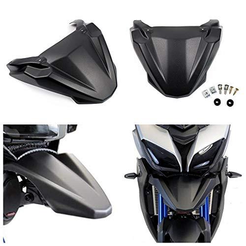ayouyue Para Yamaha Tracer 900 FJ-09 MT-09 Tracer Guardabarros delantero negro Guardabarros ABS de alta calidad Rueda delantera Guardabarros Pico Nariz cono