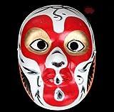 HLJZK La máscara de Pulpa de Yeso Pintada a Mano Puede Usar Estilo Chino Koji Sichuan Drama Cambiar la Cara Accesorios de Rendimiento Artesanía Ópera de Beijing Sun Wukong