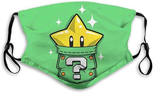 SYEA Star Super-Mario Bufanda para boca, polvo y cara, lavable al aire libre, cubierta de protección con filtro pasamontañas para niños y hombres