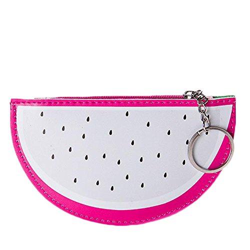 Emorias 1pc Beau portefeuille en forme de pitaya Charmant sac à main de miroir de téléphone portable Sac de maquillage formidable