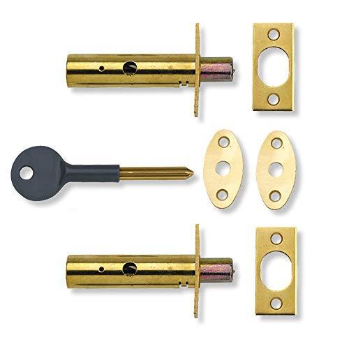 Yale Locks P2PM444PB Visi Pack - Perno de Seguridad Oculto para Puertas (2 Unidades), Color latón [Importado de Reino Unido]
