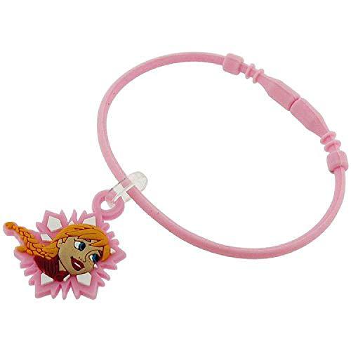 Niña de Frozen Anna Coleccionable de 'A' para pulsera rosa pulsera de goma FJ1567