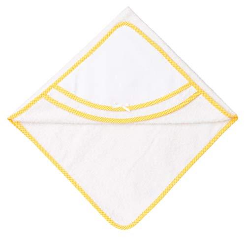Red – Albornoz triangular para recién nacidos y primera infancia, con bolsillo en forma de corazón de tela Aida para bordar, color blanco, amarillo