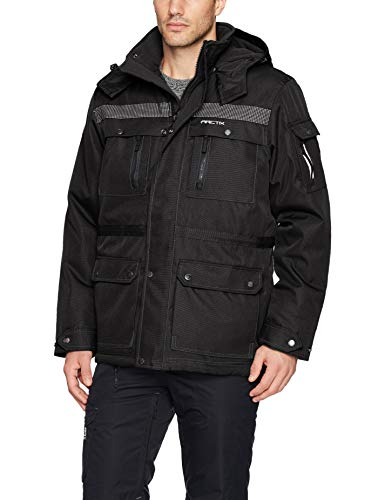 Arctix Men's Performance Tundra Jacket With Added Visibility, Black, X-Large