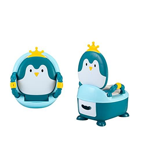 ngdt Asiento De Inodoro para Niños Reductor De WC para Bebé Adaptador WC con Cojín Suave Orinal De Bebé En Diseño Antideslizante Antisalpicadura Blanco-Blue
