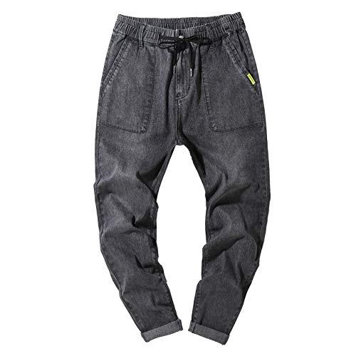 Pantalones para Correr para Hombre Pantalones Harem para Correr Casuales Pantalones elásticos con cordón elástico de Talla Grande Holgados de Verano Pantalones de Moda Streetwear 7XL