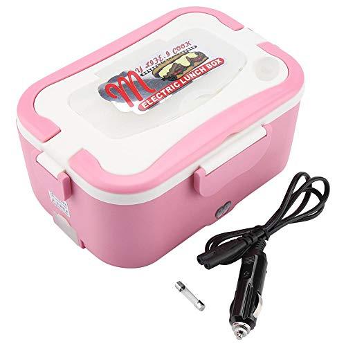 Boîte à lunch chauffante, 1.5L Portable 12V/24V Voiture Électrique Boîte à lunch chauffante Bento Récipient de réchauffeur alimentaire pour voyager(24V)