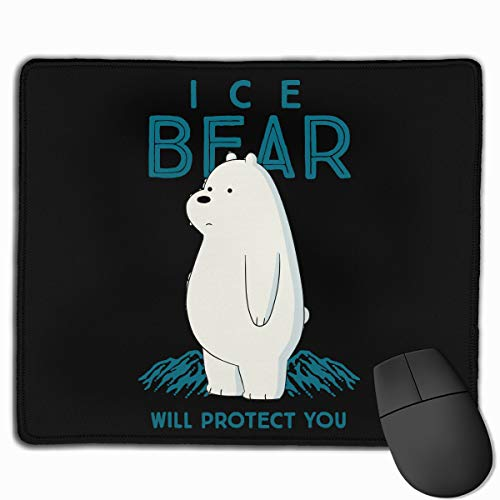 We Bare Bears Mouse Pad Computer Pad Non-Slip Rubber Base Mouse Pad 12' X 10'