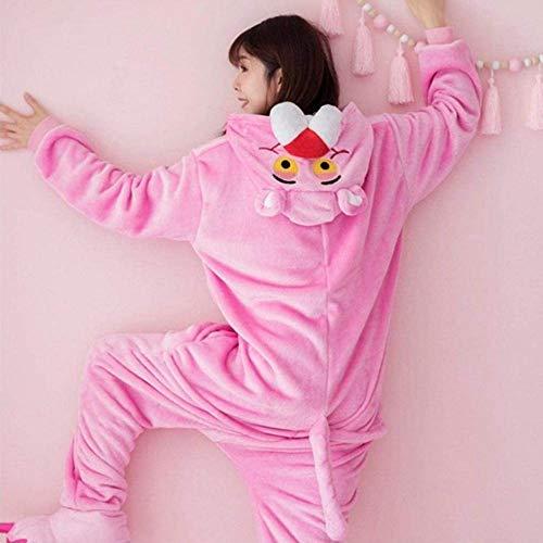 Pijama Adulto Pantera Rosa Onesie Kigurumi Pijamas Franela Dibujos Animados Fiesta de Halloween Cosplay Traje Monos Traje-Pantera Rosa_S.