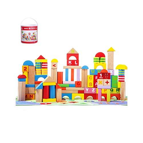 N/A Educational Building Blocks-kinderen Grote Particle Houten Gemonteerd speelgoed for jongens en meisjes Kinderen in houten vaten ( Color : Product 3 )