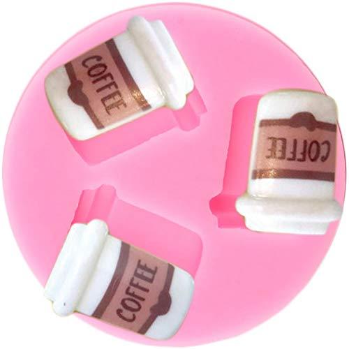 JACKWS Molde de Silicona para Taza de café, moldes para Hornear Fondant, Caramelo, Chocolate, decoración para Cupcakes, Herramientas de decoración de Pasteles DIY, moldes de Arcilla de Resina