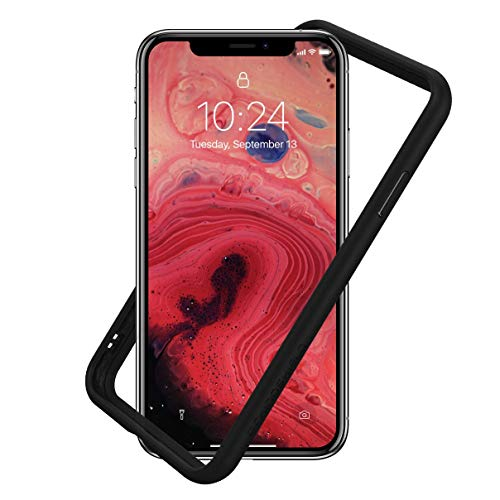 RhinoShield Ultra Protective Bumper Case for [ iPhone X/XS ] CrashGuard, Military Grade Drop Protection for Full Impact, Slim, Scratch Resistant, Black