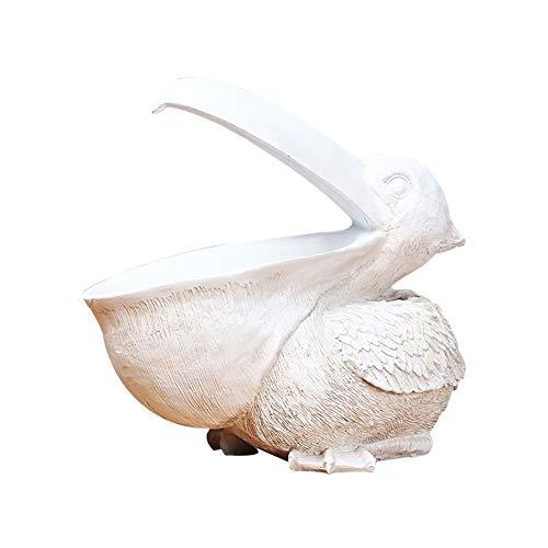 PINYUE Estatuilla de Almacenamiento de Llaves de tucán Canasta de Almacenamiento de Estatua de pelícano Animales Pájaros Forma Cuenco de Llaves