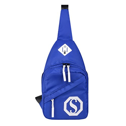 Multi-fonctionnel Sports de plein air Chest Sac Paquet / épaule Sling Bag, Bleu