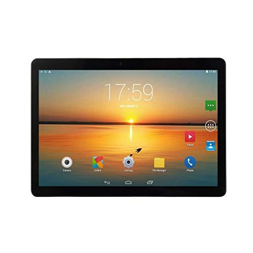 WXZQ KT107 Tableta de Agujero Redondo 10.1 Pulgadas HD Pantalla Grande Android 8.10 Versión Tableta portátil de Moda 8G + 64G Tableta Negra Negro UE