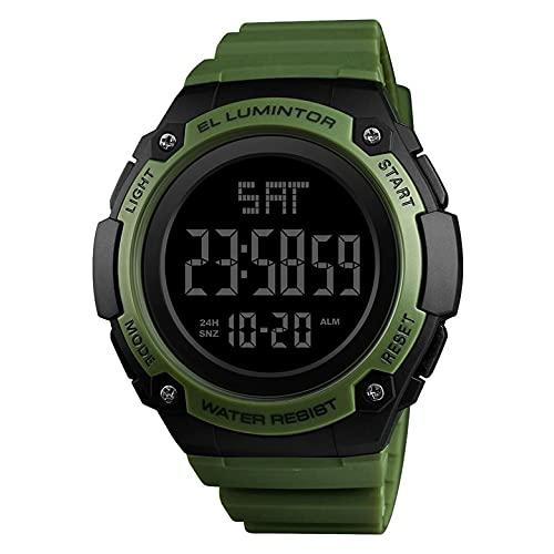#N/D 1346 impermeable multifuncional deportes reloj electrónico deportes al aire libre moda hombres reloj doble pantalla