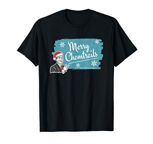 Frohe Chemtrails-Feiertags-Verschwörungs-Spaß-Retro Entwurf T-Shirt