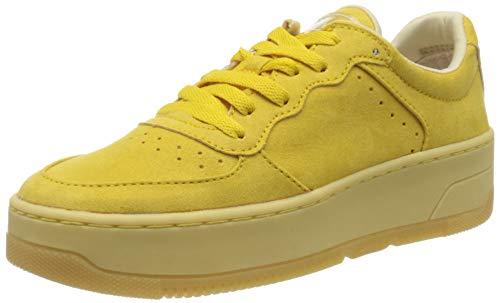 s.Oliver Damen 5-5-23674-24 Sneaker, Gelb (Yellow 600), 38