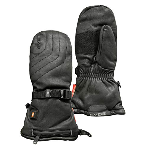 Gerbing Gyde S7 Leather Heated Mittens for Women and Men – Rechargeable 7V Battery Powered Heated Gloves for Winter Skiing Snow Camping Hiking Riding
