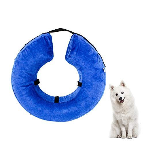 Gobesty Aufblasbar Halsband für Haustier Hund Katze Kragen, Weiches Schutzhalsband für Hunde mittelgrosse Hunde und Katzen, um Haustiere vor Rauen Stichen zu schuetzen, mittel