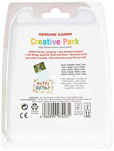 Canon PG-510+CL-511 Cartuchos de tinta BK+Tricolor para Impresora de Inyeccion de tinta Pixma iP2700-2702-MP230-240-250-252-260-270-280-480-490-492-495-499-MX320-330-340-350-360-410-420