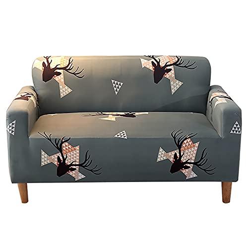 Funda elástica para sofá esquinero para Sala de Estar, sillón de 2 y 3 Lugares, sofá Gris, sofá seccional A28, 4 plazas