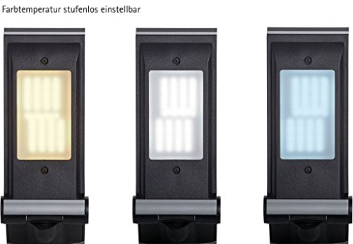 Mauloptimus Colour Vario LED Tischleuchte   Dimmbar + regelbare Farbtemperatur   Silber