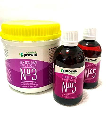 Pro Active Prowin CLEANTEX Waschverstärker, 500g und 2 x Wäscheduft Herbery a 100ml Set