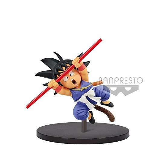 Banpresto 82981 Statue Son Goku mit Stab 20Cm, Mehrfarbig