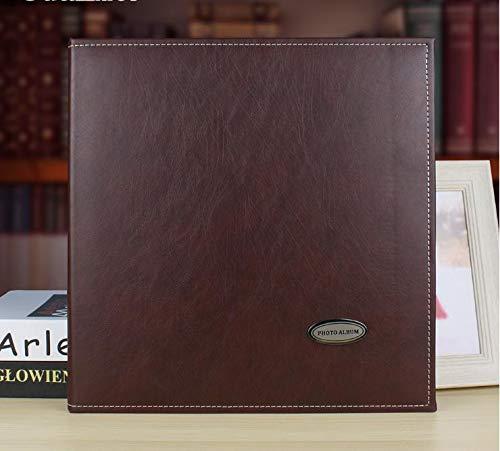 DDMY Leren album, zelfklevend, retro, creatieve zendtijd, 12 inch, doe-het-zelf fotoalbum