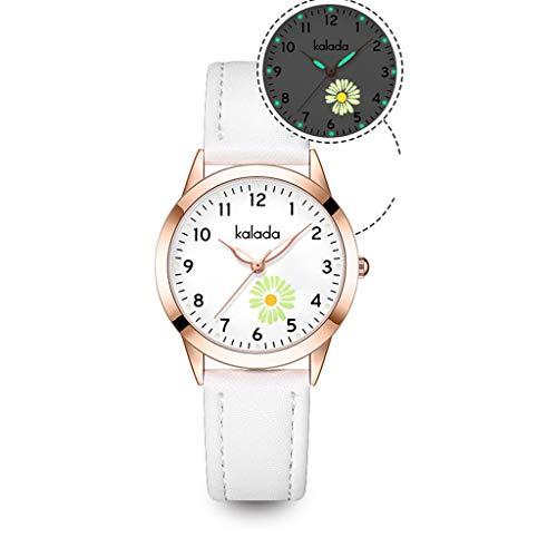 Lvmiao Relojes específicos para Estudiantes, Relojes de Prueba Impermeables Luminosos, Relojes silenciosos de Cuarzo para niños y niñas, pequeños Relojes Frescos,1