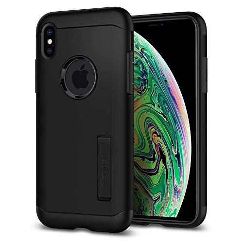 Capa spigen para iPhone XS Max Slim Armor black, Cell Case, Capa Protetora para Celular, preto