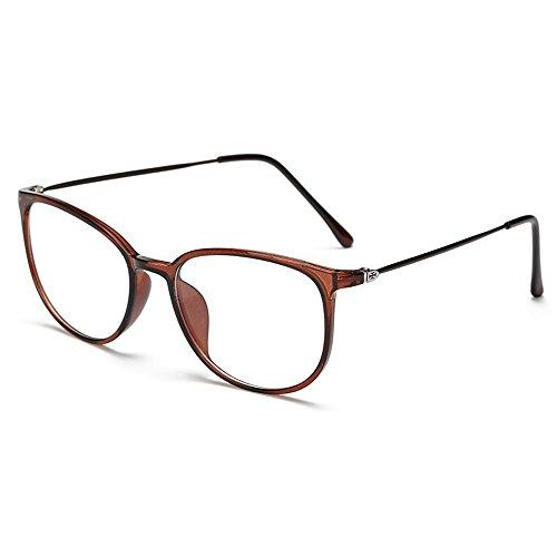 lasree Mode Brille Volle Felgen Kurzsichtig Myopie Alltag Verwendung Mens Womens Fashion Abstand Brille -1.0 Linsen Braun Rahmen Brillen