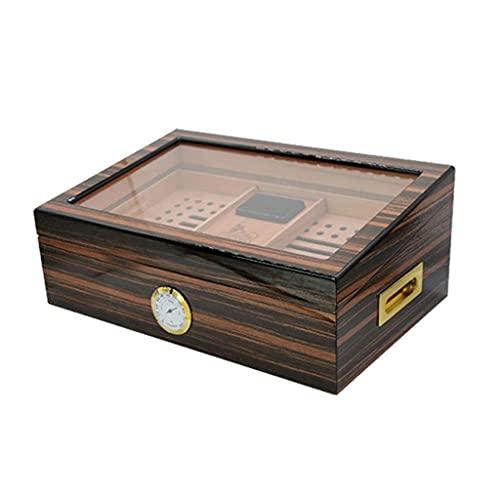 QULONG Zigarettenetui Humidors Painted Moisturizer Double-Layer Super-Kapazität Cigar Cabinet High-End-Raucher-Set Painted Piano Paint Textur Tight Seal Kochen & Essen