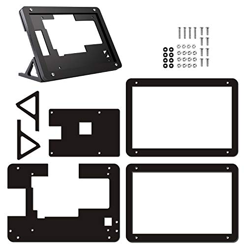 Longruner 5 Inch Zoll Raspberry Pi Touch Screen Case Holder Gehäuse for Raspberry Pi 3 2 Model B and RPi 1 B + A BB SC5A-K