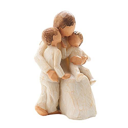 Tangpingsi Ornamento, statuetta dipinta a mano, idea regalo per matrimonio
