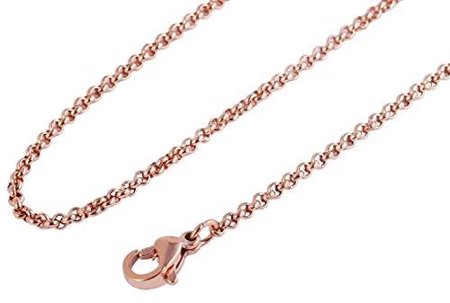 Heideman Halskette Damen Ankerkette 3mm aus Edelstahl Rosegold farbend matt für Charms und Schmuck Länge 70cm