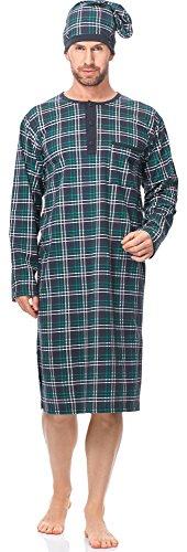 Cornette Herren Nachthemd mit Schlafmütze CR1102017 (Muster-571304, M)