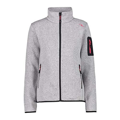 CMP Fleecejacke Melange Knit Tech Fleece Jacket, Silber-Erdbeere, 50 Womens