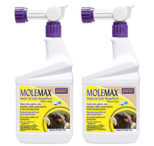 Bonide Products 690 Ready to Spray Mole Repellent, Quart, Pack of 2