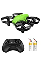 Having Fun for More Time : 2 detachable batteries and 3 adjustable speed levels deliver exciting flight experience for amateurs and advanced pilots alike. Fast & Agile: You could control the drone fly toward any directions by Remote Controller. Once ...